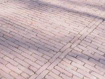Teste padrão dos pavers em um parque Foto de Stock Royalty Free