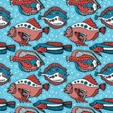 Teste padrão dos peixes ilustração stock