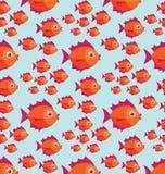 Teste padrão dos peixes Fotografia de Stock