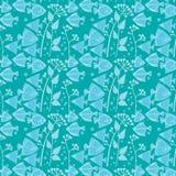 Teste padrão dos peixes em tons azuis Fotos de Stock