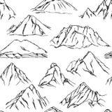 Teste padrão dos picos de montanha Imagens de Stock Royalty Free
