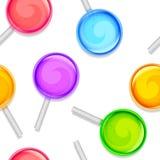 Teste padrão dos pirulitos da cor Fotografia de Stock Royalty Free