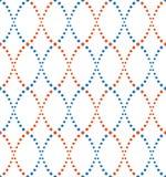 Teste padrão dos pontos, do azul e da laranja Foto de Stock Royalty Free