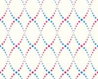 Teste padrão dos pontos, do azul e do rosa Imagens de Stock Royalty Free