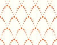 Teste padrão dos pontos, máscaras da laranja Fotografia de Stock
