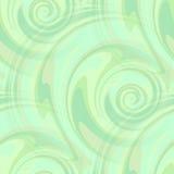 Teste padrão dos redemoinhos do verde da hortelã - sem emenda Fotos de Stock