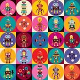 Teste padrão dos robôs Imagens de Stock Royalty Free