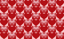 Teste padrão dos seamlss do dia de Valentim. Fotos de Stock