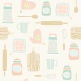 Teste padrão dos utensílios da cozinha Imagem de Stock