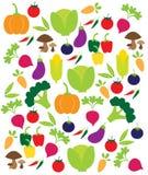 Teste padrão dos vegetais do vetor Imagens de Stock Royalty Free