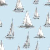 Teste padrão dos veleiros ilustração royalty free