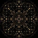 Teste padrão dourado Fotografia de Stock Royalty Free