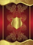 Teste padrão dourado ilustração royalty free