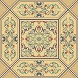Teste padrão dourado barroco sem emenda Ornamento clássico tradicional de oriente ilustração royalty free