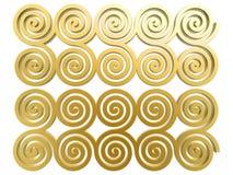 Teste padrão dourado chinês da nuvem Imagens de Stock Royalty Free