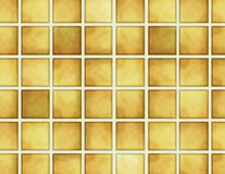 Teste padrão dourado da telha Foto de Stock Royalty Free