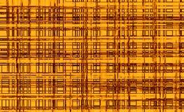 Teste padrão dourado das janelas com linhas marrons mais escuras fotos de stock