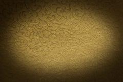 Teste padrão dourado de brocado Fotos de Stock