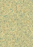 Teste padrão dourado do ornamento Foto de Stock Royalty Free