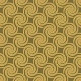 Teste padrão dourado do redemoinho Foto de Stock