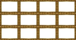 Teste padrão dourado dos quadros Fotos de Stock