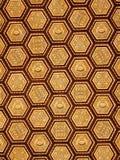 Teste padrão dourado ornamentado do teto do hexágono Imagem de Stock Royalty Free