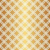 Teste padrão dourado sem emenda do fundo do vetor do Weave Foto de Stock