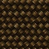 Teste padrão dourado sem emenda do Weave de sarja da cesta da quadriculação Imagens de Stock