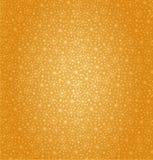 Teste padrão dourado sem emenda. Projeto bonito dos desenhos animados. Fundo floral do amarelo da fantasia ilustração royalty free