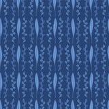 Teste padrão elegante Geo da flor da folha dos azuis marinhos ilustração royalty free