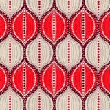 Teste padrão elegante sem emenda brilhante do ogee vermelho e bege ilustração stock