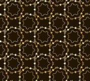 Teste padrão elegante sem emenda do ouro do vetor Imagens de Stock Royalty Free