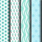 Teste padrão em azul e em branco Imagem de Stock Royalty Free