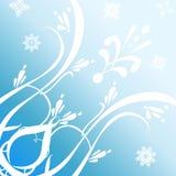 Teste padrão em um fundo azul Fotografia de Stock