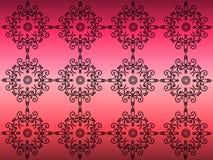 Teste padrão em um fundo cor-de-rosa Imagem de Stock
