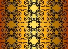 Teste padrão em um fundo do ouro Fotos de Stock Royalty Free