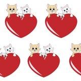 Teste padrão encantador da família de gatos - fundo ilustração royalty free