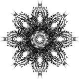 Teste padrão encaracolado da cor preta Fotos de Stock Royalty Free