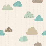 Teste padrão engraçado das nuvens Imagem de Stock Royalty Free