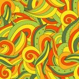 Teste padrão engraçado e colorido com teste padrão na amostra de folha Imagens de Stock