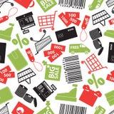 Teste padrão eps10 da cor dos ícones da compra Imagem de Stock