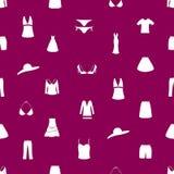 Teste padrão eps10 do ícone da roupa das mulheres Fotografia de Stock