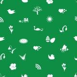 Teste padrão eps10 dos ícones da mola Imagem de Stock Royalty Free