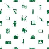 Teste padrão eps10 sem emenda dos ícones da arte Imagem de Stock Royalty Free