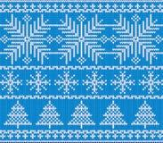 Teste padrão escandinavo do Natal Imagens de Stock Royalty Free