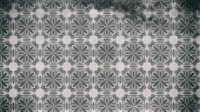 Teste padrão escuro de Gray Vintage Decorative Ornament Wallpaper ilustração royalty free