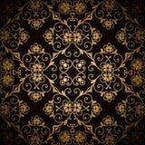 Teste padrão escuro do ouro Fotos de Stock Royalty Free