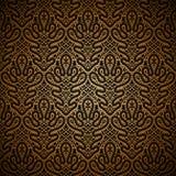 Teste padrão escuro do ouro Foto de Stock