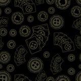 Teste padrão escuro do pôquer Ilustração do Vetor