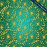 Teste padrão esmeralda e dourado do radial do grunge. Decorati ilustração do vetor